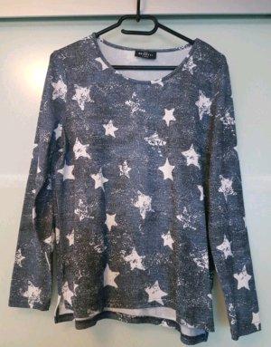 Pullover mit Sternen blau von Gina Gr. S (36/38)
