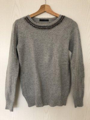 Pullover mit Strass Gr. 34