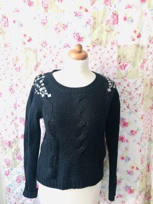 Pullover mit Strasssteine an den Schultern
