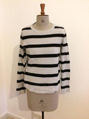 Marc O'Polo Wool Sweater oatmeal-black mixture fibre