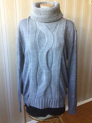 Pullover mit Strickeinsatz