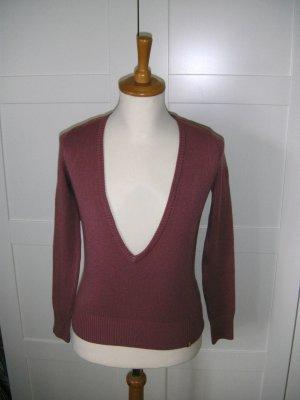 Pullover mit tiefem V-Ausschnitt, Pulli, himbeerfarben, edc by esprit, Gr. S