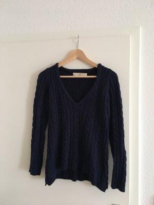 Pullover mit V-Ausschnitt marineblau Größe S