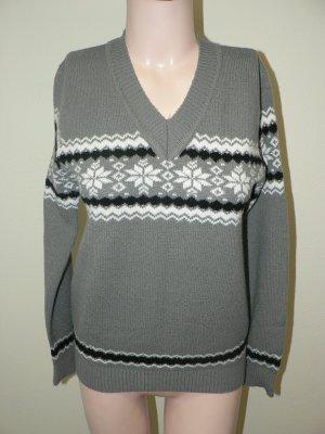 Pullover mit V-Ausschnitt norwegermuster