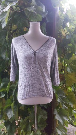 Pullover mit V-Ausschnitt - Reißverschluss Farbe Grey Size: S
