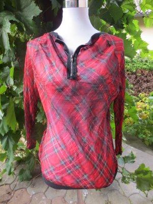Pullover mit V-Ausschnitt - Reißverschluss Farbe Rot Size: S