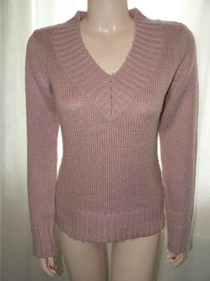 Pullover mit V-Ausschnitt rosa