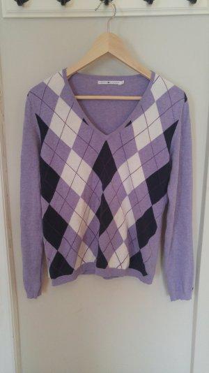 Pullover mit V-Ausschnitt und Karomuster