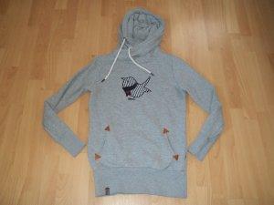 Pullover mit Vogel von Naketano für Gr. 38 grau