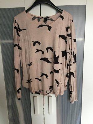 Pullover mit Vogelprint