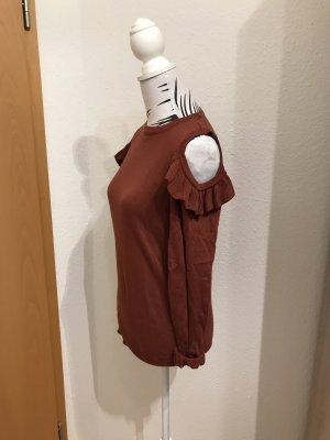 Pullover mit Volants und Schultercutouts