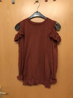 Jersey largo rojo amarronado