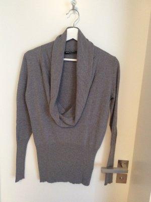 Pullover mit Wasserfallkragen, weiches Seide-Viskosegemisch
