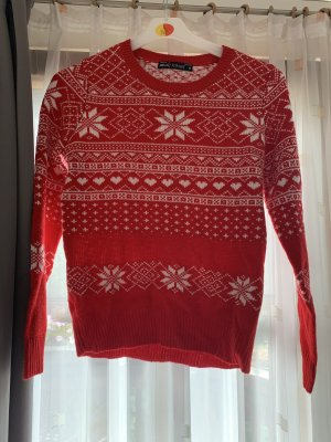 Fishbone Norwegian Sweater white-red