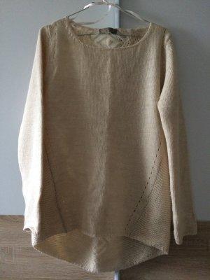 Pullover mit Wolle beige, Gr.L, von Bianca D, made in Italy