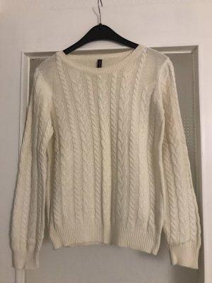 Amisu Cable Sweater natural white-cream