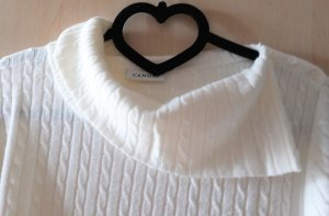 Pullover mit Zopfmuster Oversize in wollweiß
