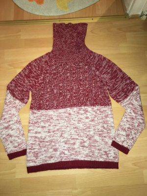 Pullover Multiblu rot, weiß in Größe M