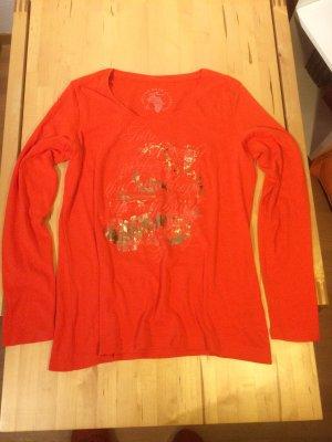Pullover, neon-orange , Größe XXL