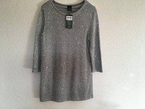 Madeleine Jersey largo color plata-gris claro
