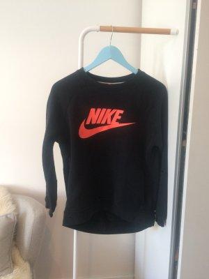 Nike Maglione lungo nero-arancione Cotone
