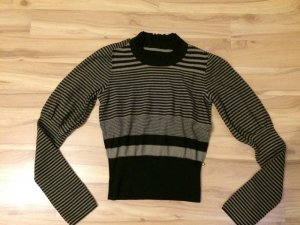 Pullover No Name Größe xs/s 34 36 puffärmel gestreift süß schwarz braun blogger
