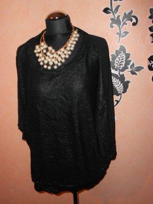 Pullover Object Gr. M schimmernd schwarz