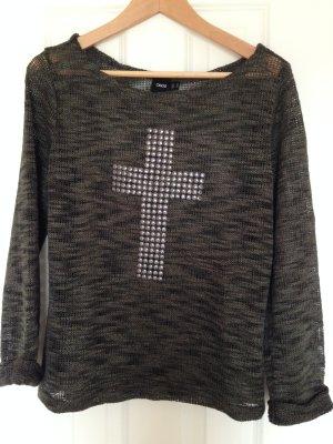 Pullover Olive Gr 38 Kreuz