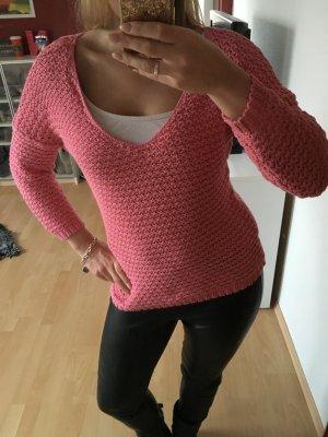 Pullover Orsay Pink rosa Häkel Strickpullover Oversize M 36 38 langärmlig