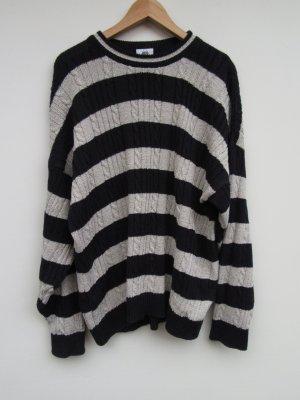 Pullover oversize gestreift Vintage Retro Gr. XL