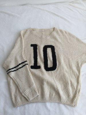 Oversized Sweater cream-black