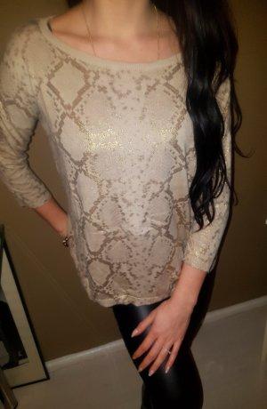 Zara Knit Oversized trui goud-room