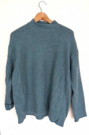 Rockamora Pull oversize bleu cadet-turquoise polyester