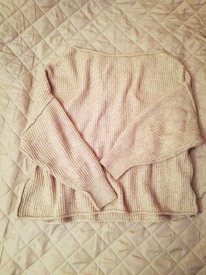 Pull & Bear Jersey de punto beige Algodón