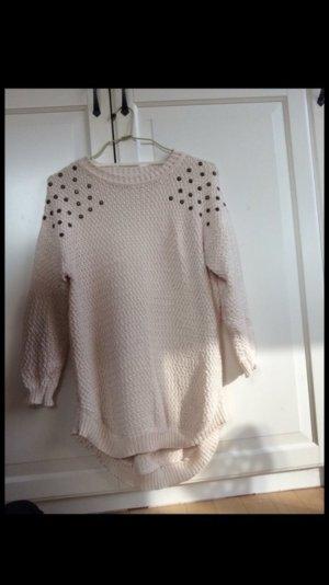Pullover oversized nieten Schultern