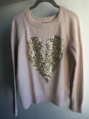 H&M Christmasjumper dusky pink-gold-colored