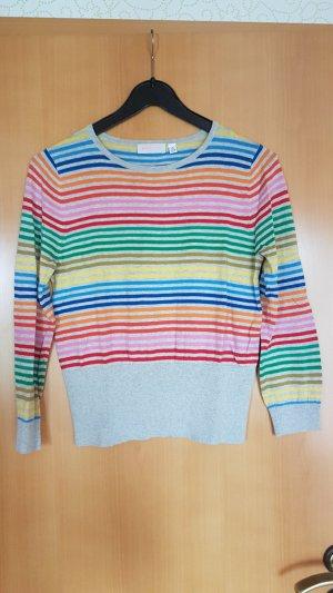 Pullover passend für gr 34 grau bunt gestreift