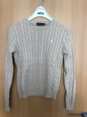 Polo Ralph Lauren Coarse Knitted Sweater light brown