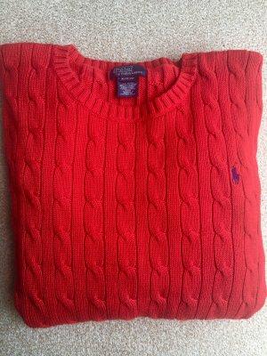 Polo Ralph Lauren Grof gebreide trui rood-donkerrood