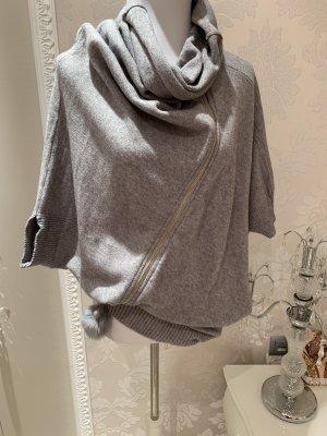 Poncho grijs-lichtgrijs