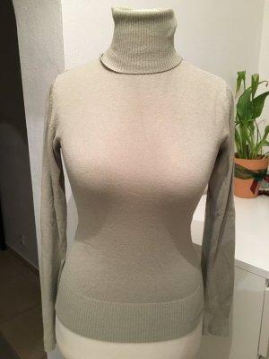 Pullover Pulli basic Rollkragenpullover beige grau Gr. S TOP
