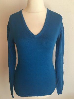 Pullover Pulli Basic V-Neck blau Gr. 38