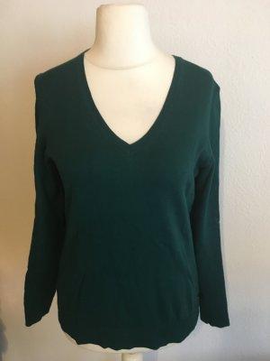 Pullover Pulli Basic V-Neck dunkelgrün Gr. 38