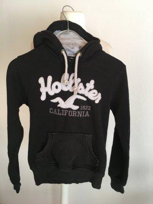 Pullover Pulli Hoodie mit Kapuze schwarz Hollister Gr. S