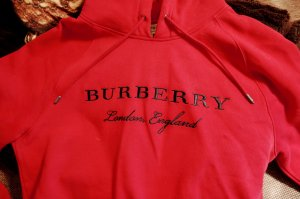 Burberry Hooded Sweater red cotton