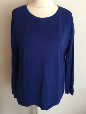 Pullover Pulli locker dünn royal blau Gr. M