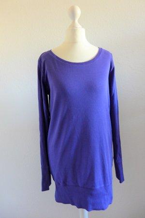 Pullover Pulli Longpulli Langarm oversize lila blau Gr. 36/38