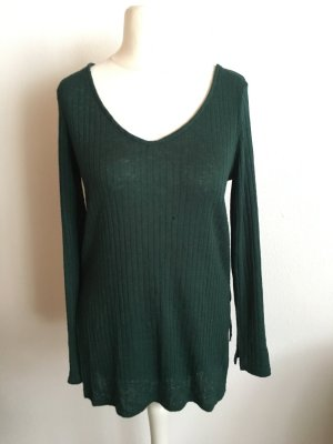 H&M V-Neck Sweater forest green-green
