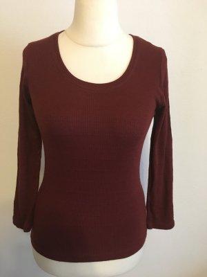Pullover Pulli Oberteil Basic braun rot rost Gr. S TOP