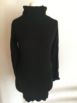 Pullover Pulli Rollkragenpulli Longpullover schwarz basic Gr. S